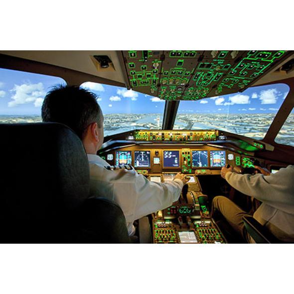 Flugsimulator Boeing 777 in Tuebingen