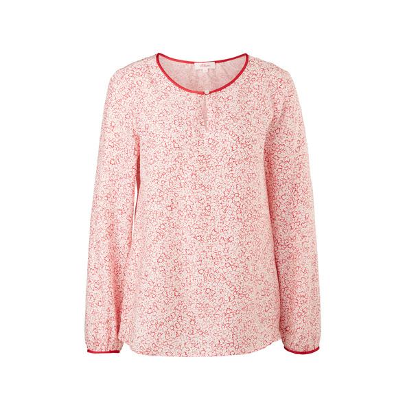 Crêpe-Bluse mit Perlmuttknöpfen - Viskose-Bluse