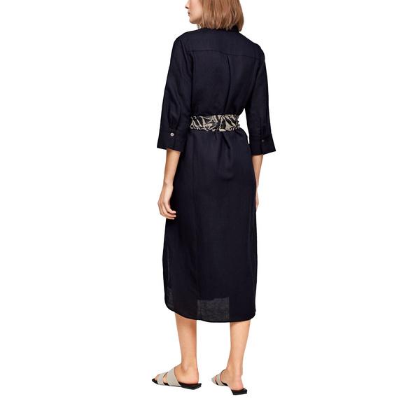 Leinenkleid mit Bindegürtel - Hemdblusenkleid