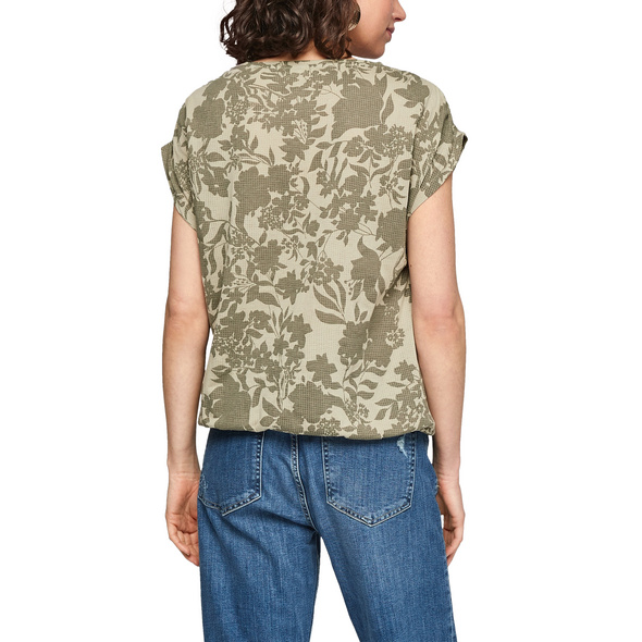 Shirt mit Blumen-Ausbrennermuster - Jersey-Shirt