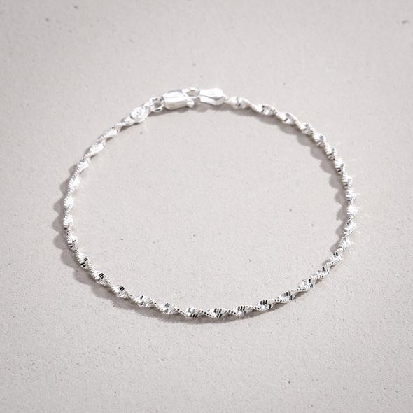Armband - Silver Spiral