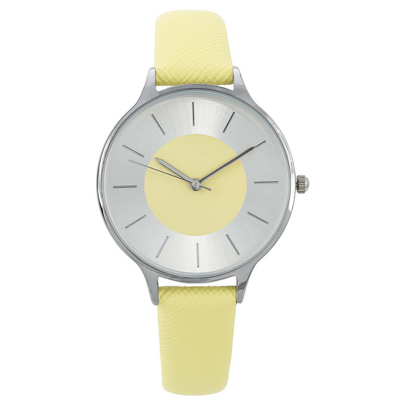 Uhr -  Silver Yellow