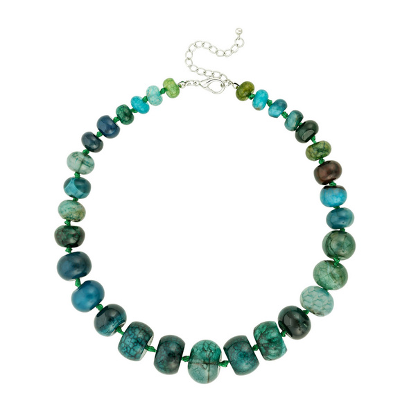 Kette - Green Stones