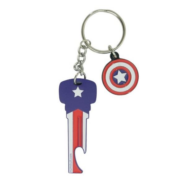 Marvel Captain America - Schlüsselanhänger + Flaschenöffner