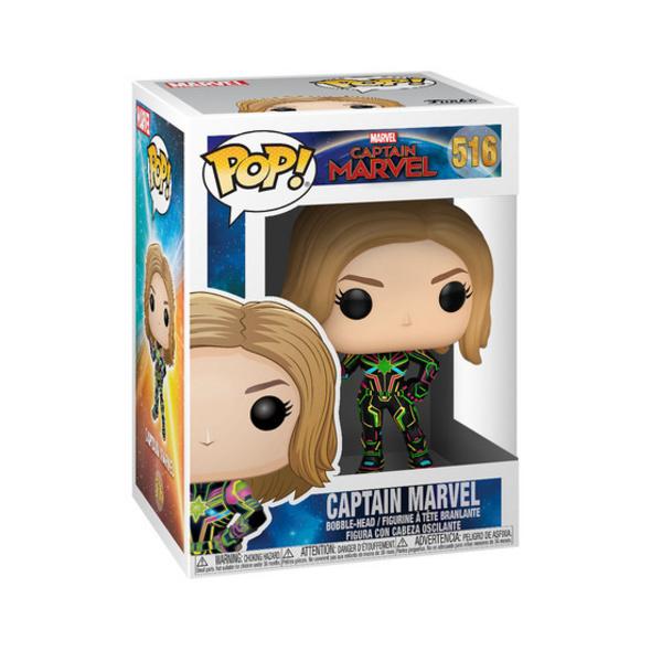 Captain Marvel - POP!-Vinyl Figur Neon Anzug