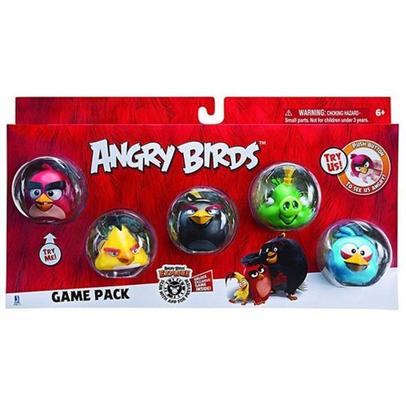 Angry Birds - Figuren Pack Red, Bomb, Chuck, King & Blue Bird