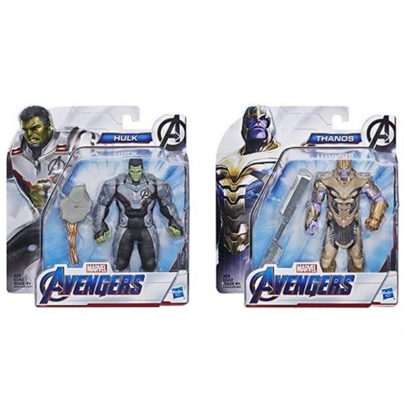 Avengers 4: Endgame - Actionfiguren Thanos oder Hulk (zufällige Auswahl)