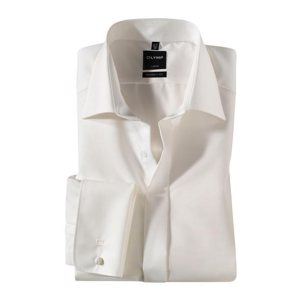 OLYMP Luxor Soirée Smokinghemd, modern fit, Extra langer Arm