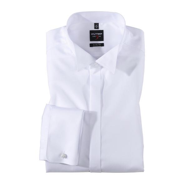 OLYMP Level Five Soirée Smokinghemd, body fit, Extra langer Arm