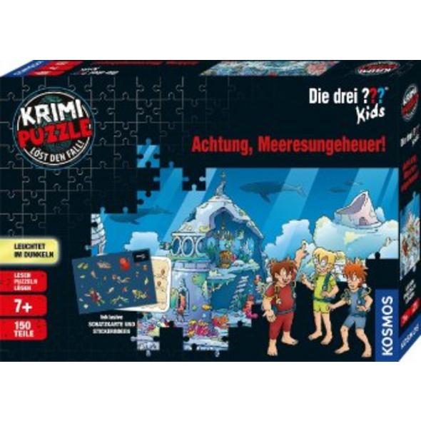 Krimi-Puzzle: Die drei ??? Kids 150 Teile - Achtun