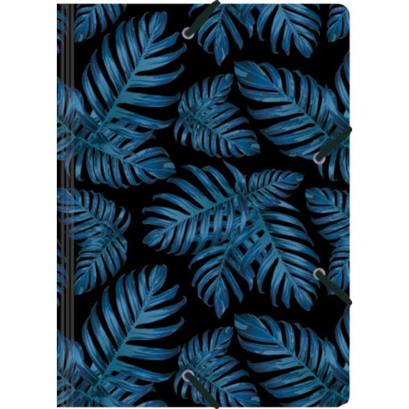Sammelmappe de Luxe A4, Philodendron blue