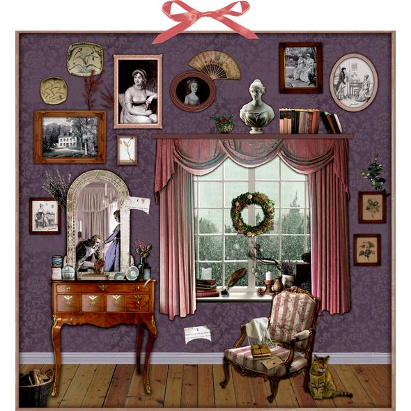 Zettelkalender - Weihnachten mit Jane Austen