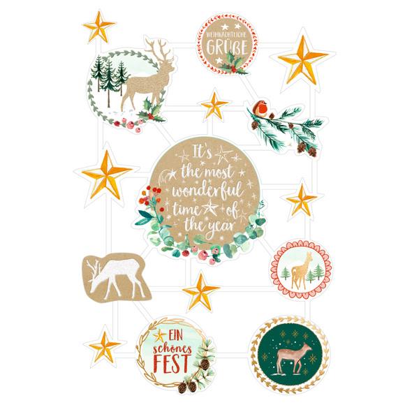 Glanzbilder   Oblaten - Weihnachtswunder