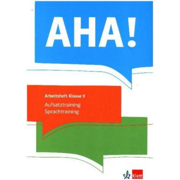 AHA! 9. Aufsatztraining   Sprachtraining