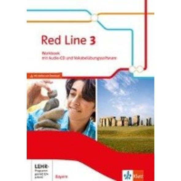 Red Line 3. Workbook mit Audio-CD und Vokabelübung