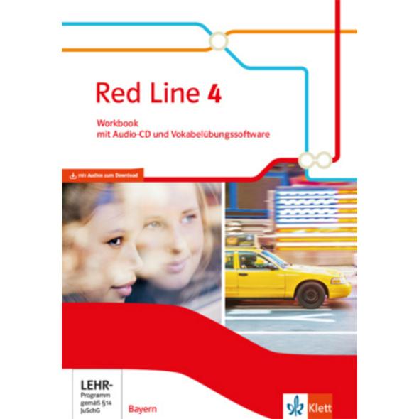 Red Line 4. Ausgabe Bayern. Workbook mit Audio-CD