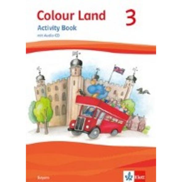 Colour Land ab Klasse 3. Activity Book mit Audio-C
