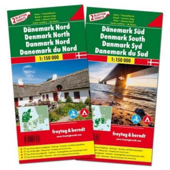 Dänemark Nord und Süd, Autokarten 1:150.000