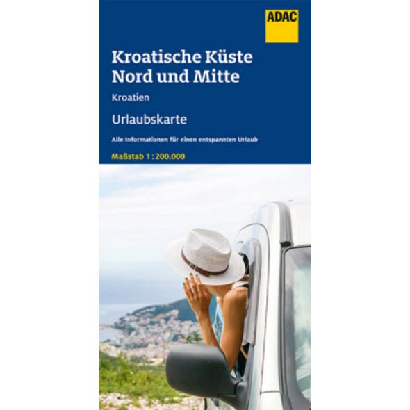 ADAC Urlaubskarte HR Kroatische Küste, Nord und Mi
