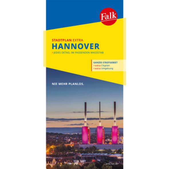Falk Stadtplan Extra Standardfaltung Hannover 1:20