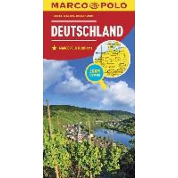 MARCO POLO Länderkarte Deutschland 1:800 000