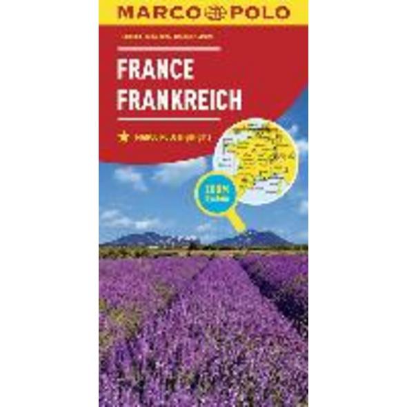 MARCO POLO Länderkarte Frankreich 1:800 000