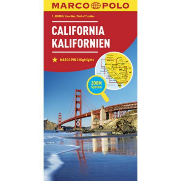 MARCO POLO Länderkarte Kalifornien 1:800 000