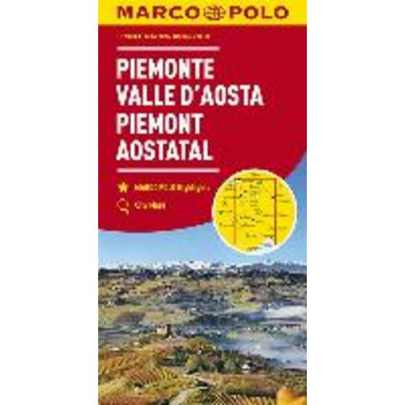 MARCO POLO Karte Italien 01. Piemont, Aostatal 1:2