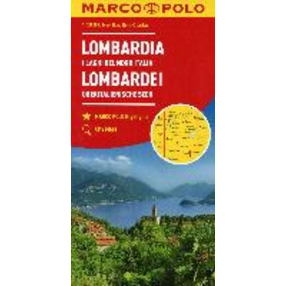 MARCO POLO Karte Italien 02. Lombardei, Oberitalie