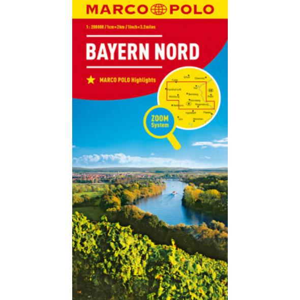 MARCO POLO Karte Deutschland Blatt 12 Bayern Nord