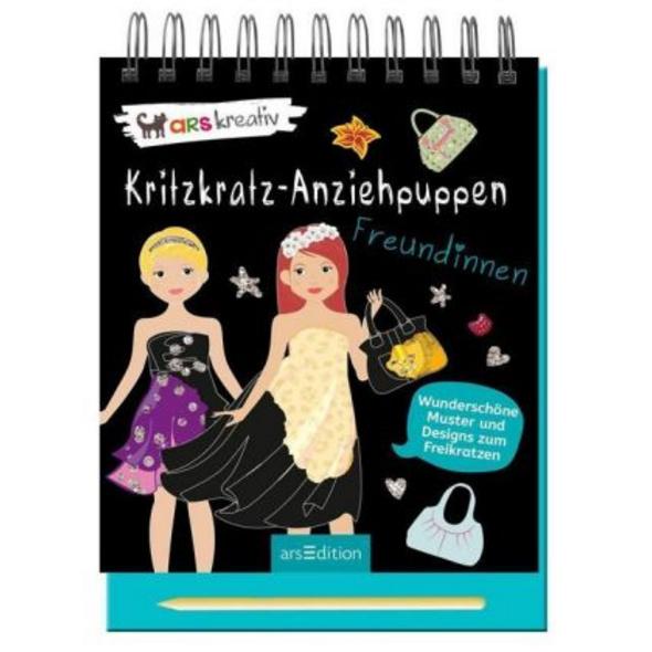 Kritzkratz-Anziehpuppen Freundinnen