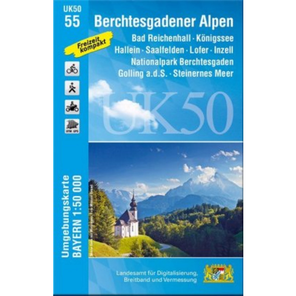 Berchtesgadener Alpen 1 : 50 000  UK50-55