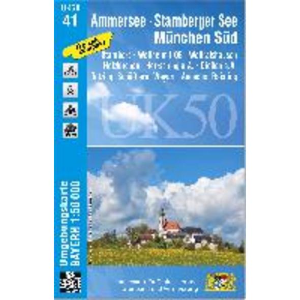 Ammersee, Starnberger See, München-Süd 1 : 50 000