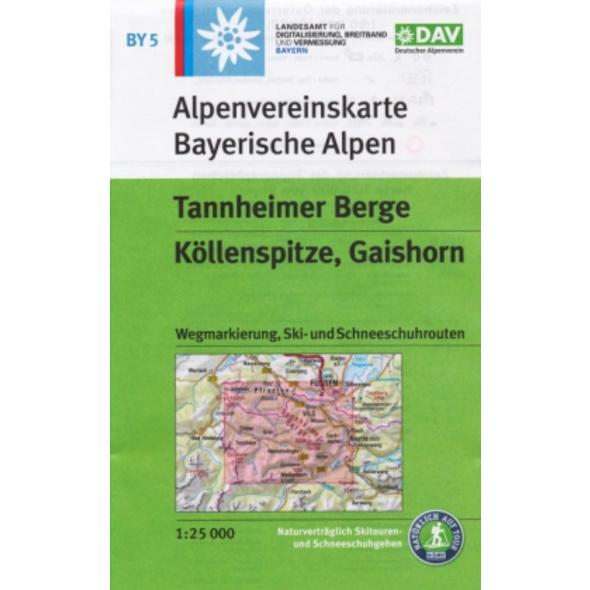 DAV Alpenvereinskarte Bayerische Alpen 05. Tannhei