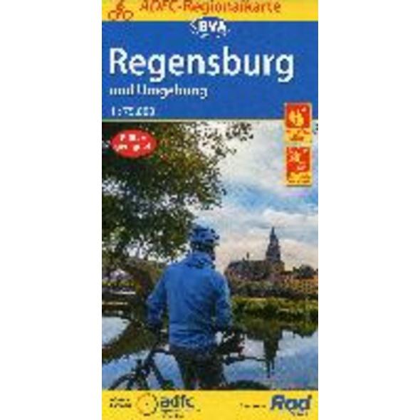 ADFC-Regionalkarte Regensburg und Umgebung mit Tag
