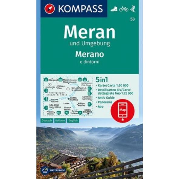 Meran und Umgebung  Merano e dintorni 1:50 000