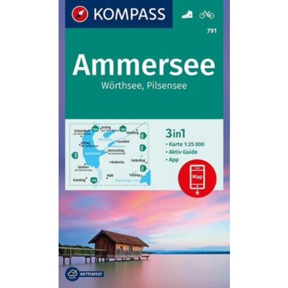 Ammersee, Wörthsee, Pilsensee 1:25 000