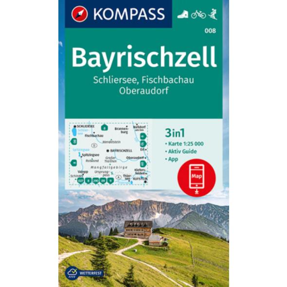 KOMPASS Wanderkarte Bayrischzell, Schliersee, Fisc