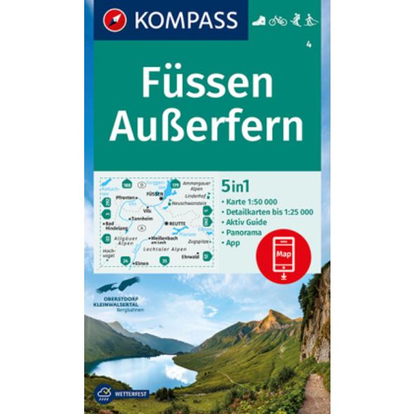 KOMPASS Wanderkarte Füssen, Außerfern 1:50 000