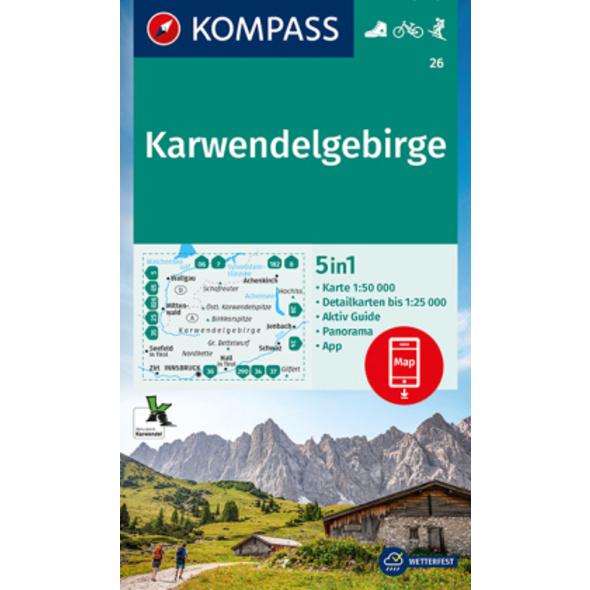 KOMPASS Wanderkarte Karwendelgebirge 1:50 000