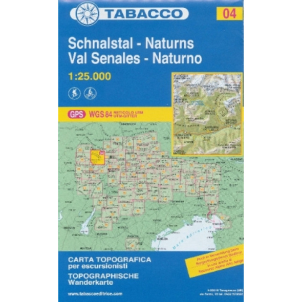 Tabacco Wandern 1 : 25 000 Schnalstal   Val Senale