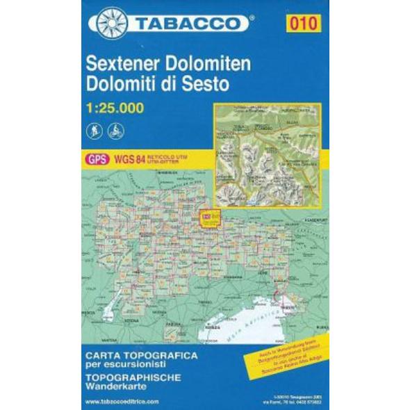 Tabacco Wandern 1 : 25 000 Sextener Dolomiten