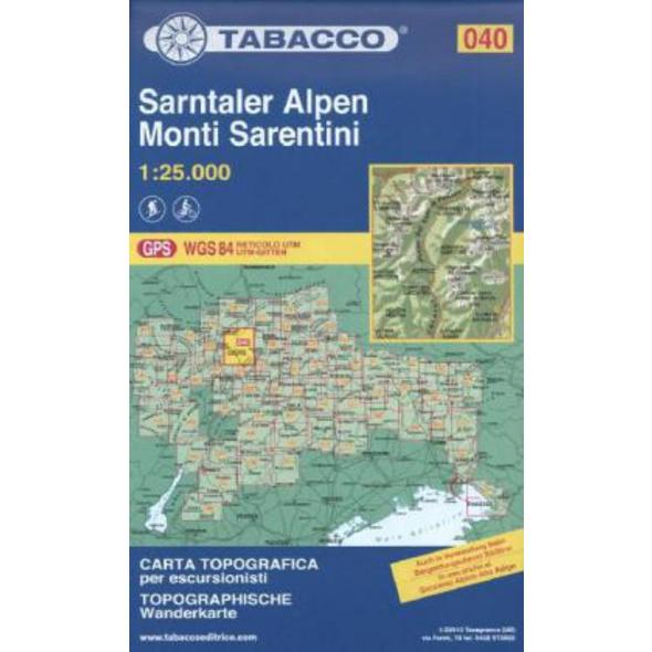 Tabacco Wandern 1 : 25 000 Sarntaler Alpen