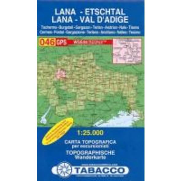 Tabacco Wandern 1 : 25 000 Lana Etschtal