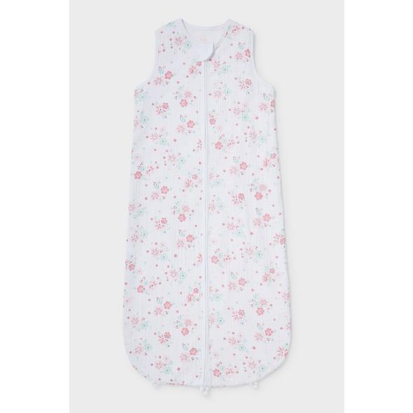 Baby-Schlafsack - Bio-Baumwolle - geblümt