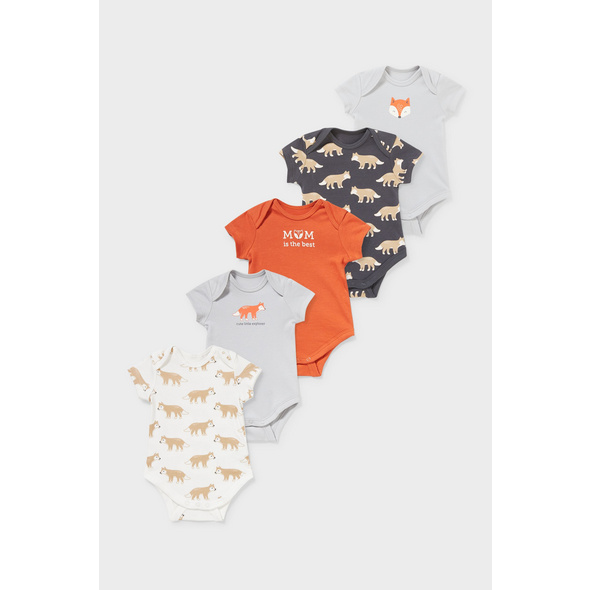 Multipack 5er - Baby-Body - Bio-Baumwolle