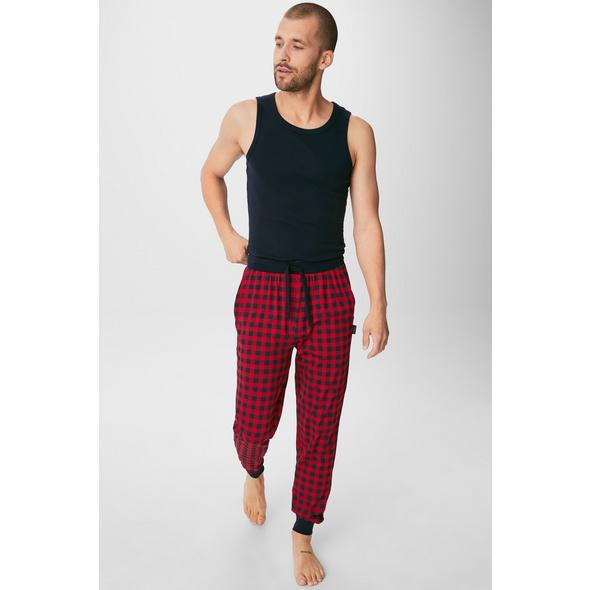 Pyjamahose - Bio-Baumwolle - kariert