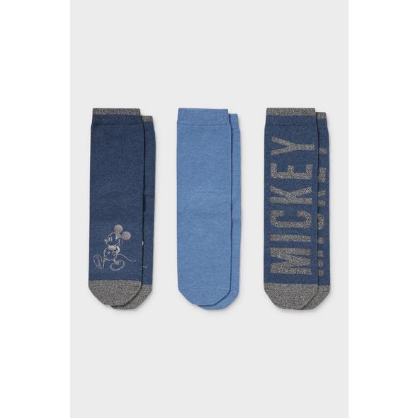 Multipack 3er - Socken - Glanz-Effekt - Micky Maus