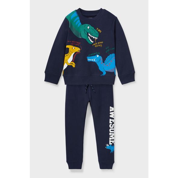 Dino - Set - Sweatshirt und Jogginghose - Bio-Baumwolle