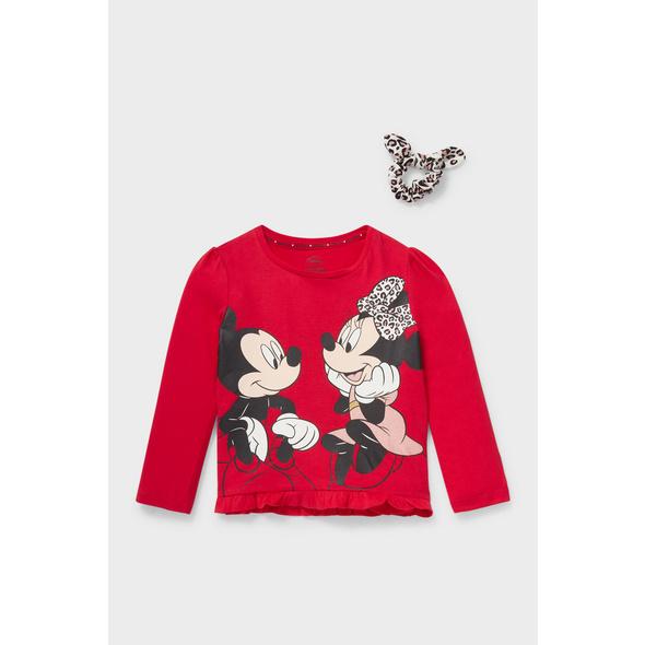 Minnie Maus - Set - Langarmshirt und Haarband - 2 teilig